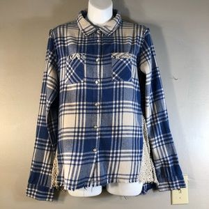 NWOT Anthropologie White Crow Plaid Button Shirt